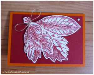 stampin up vintage leave10