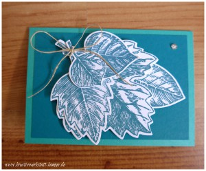 stampin up vintage leave6