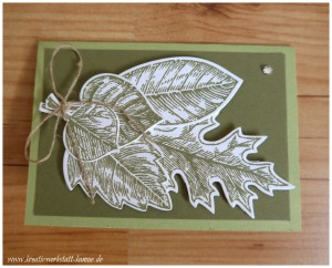 stampin up vintage leave7