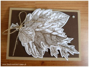 stampin up vintage leave8