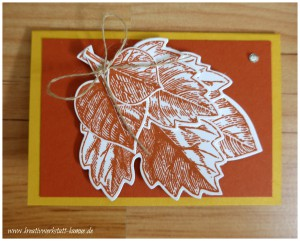 stampin up vintage leave9