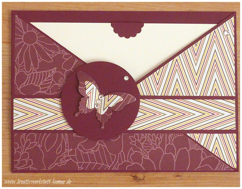 stampin up criss cross card6