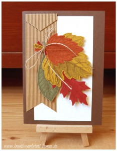 stampin up vintage leave20
