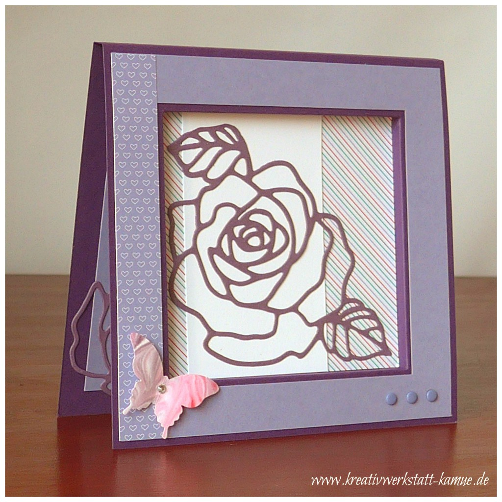 stampin up rosengarten rahmenkarte