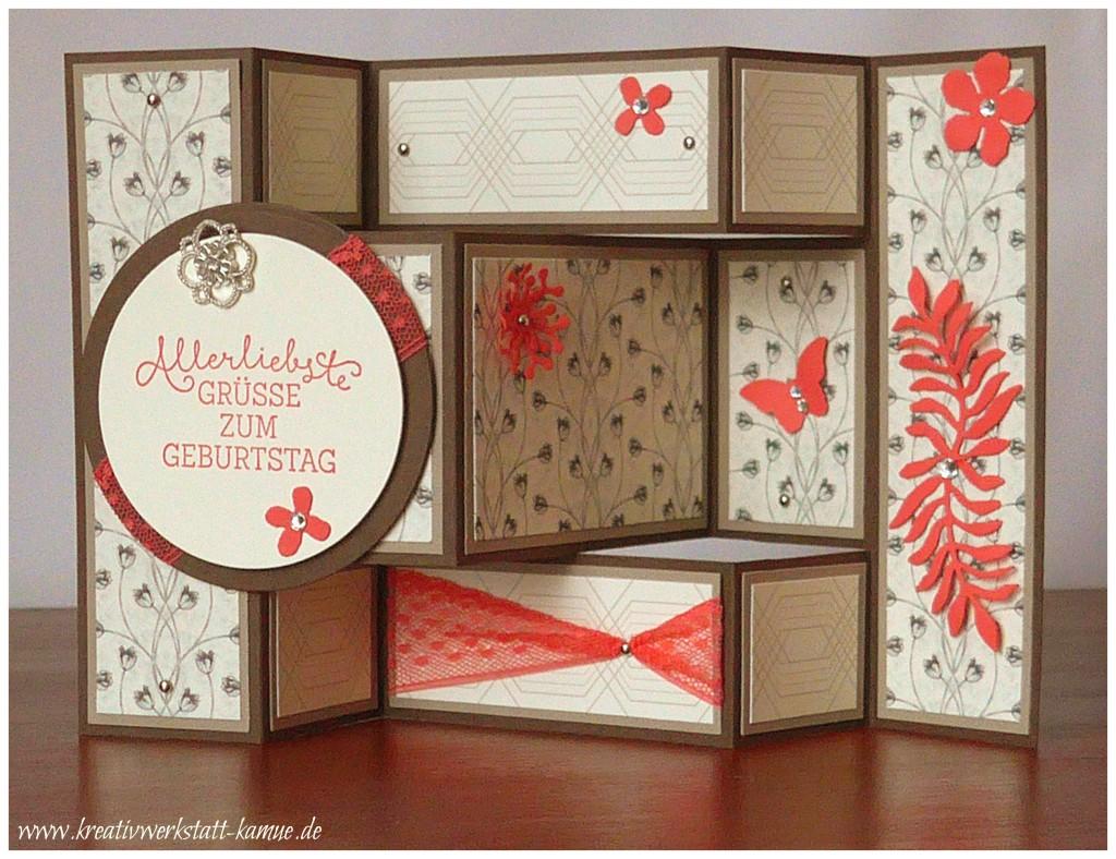 stampin up tri shutter card zeitlos elegant