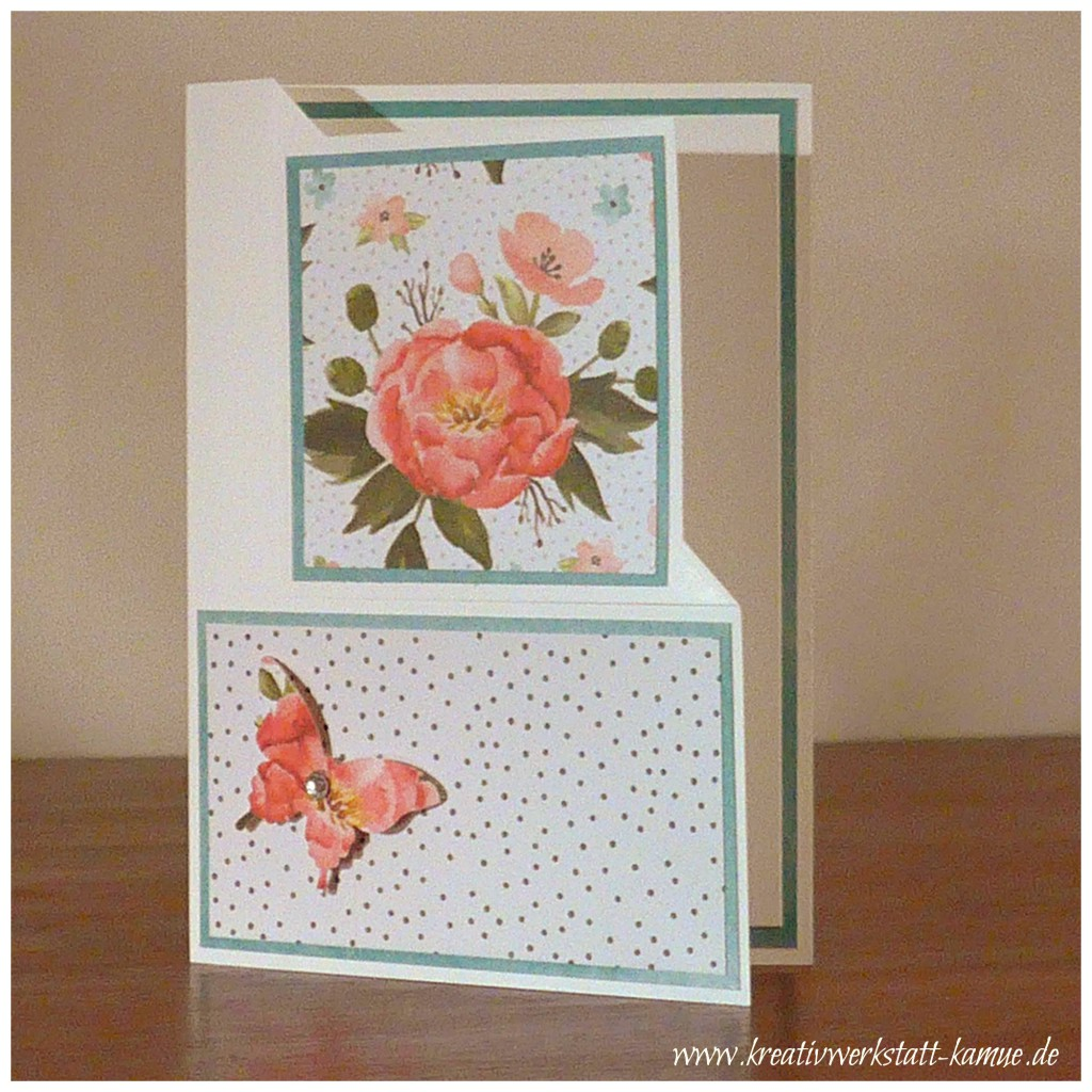 stampin up corner fold card