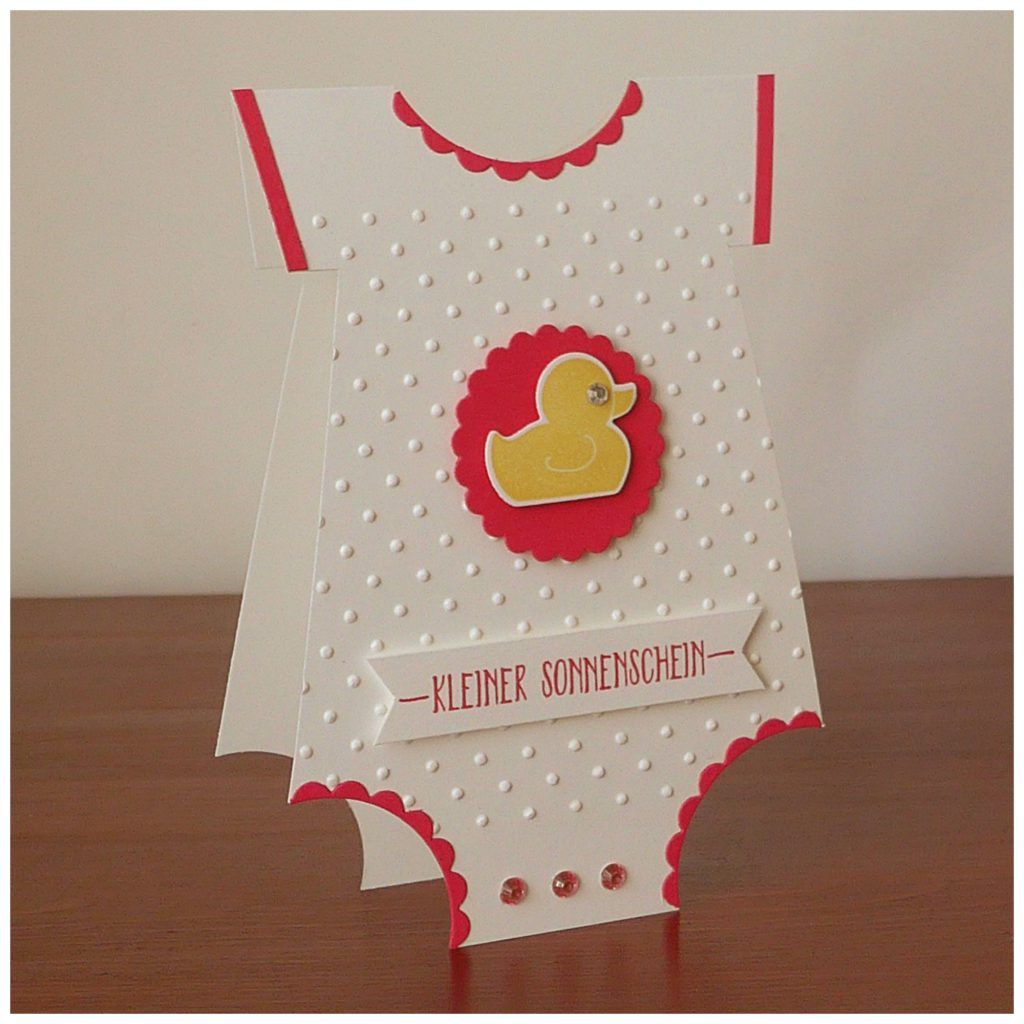stampin up baby body card