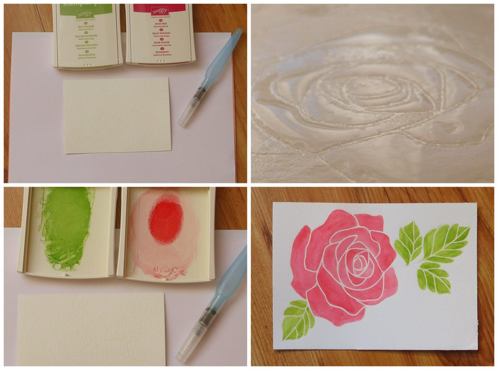 stampin up flowting reinker watercolor