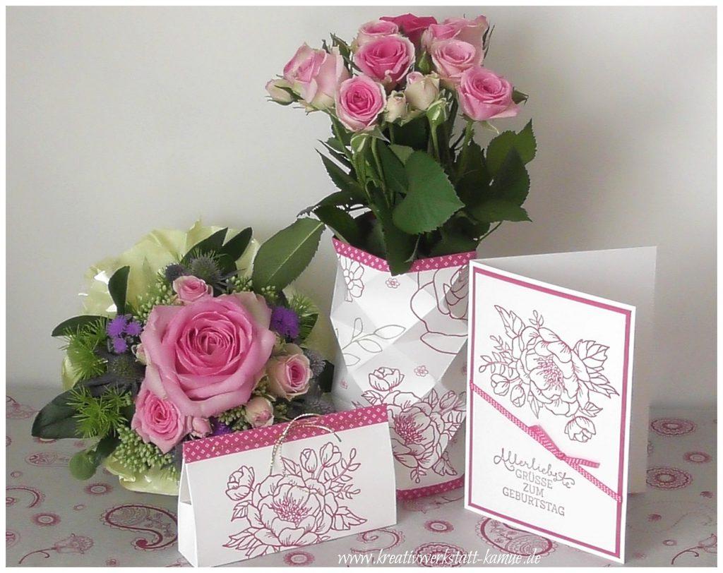 stampin up geburtstagsblumen rosenzauber