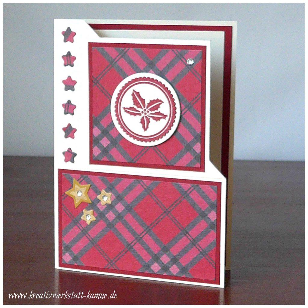stampin up gemuetliche weihnachten corner fold card