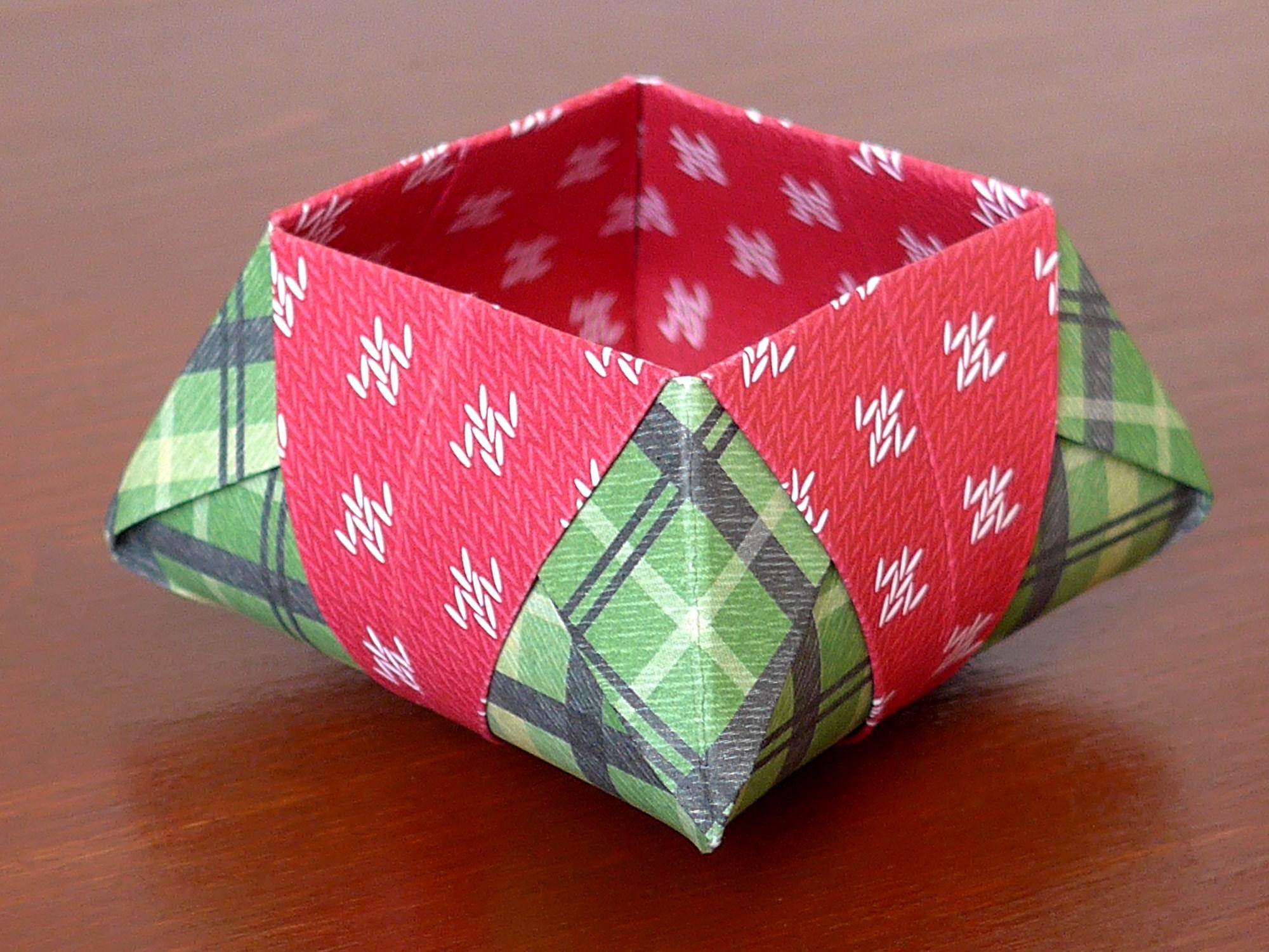 Origami star box mit video anleitung kreativwerkstatt - Origami anleitung weihnachten ...