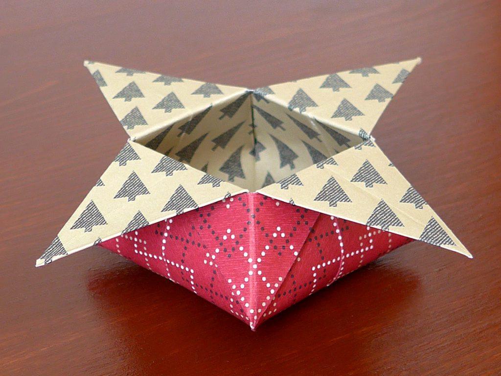 stampin up gemuetliche weihnachten origami star box5