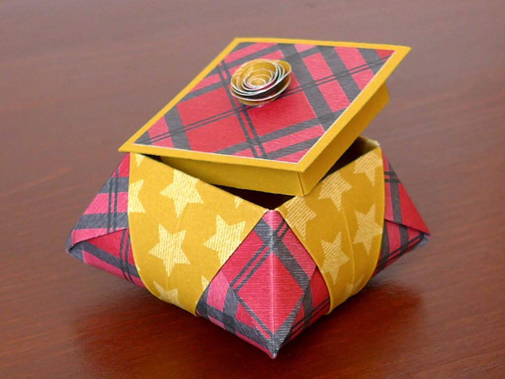 stampin up gemuetliche weihnachten origami star box6