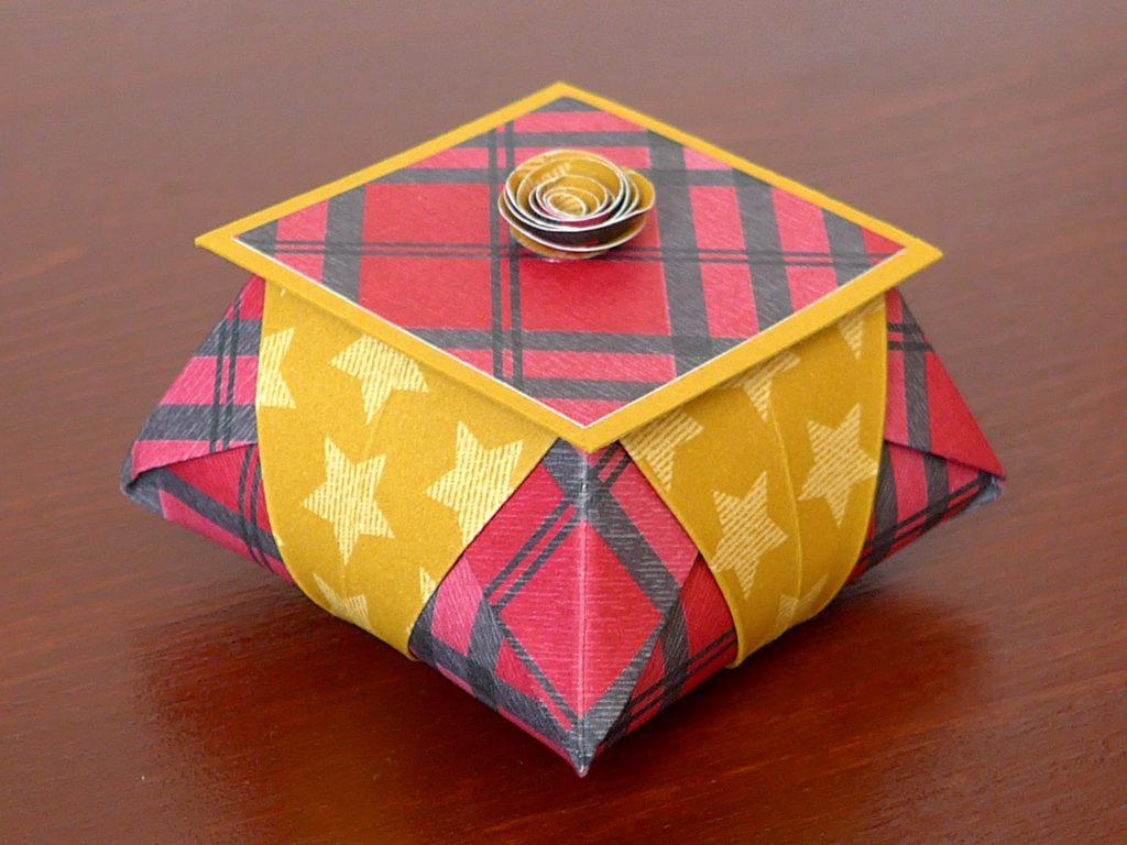 stampin up gemuetliche weihnachten origami star box7