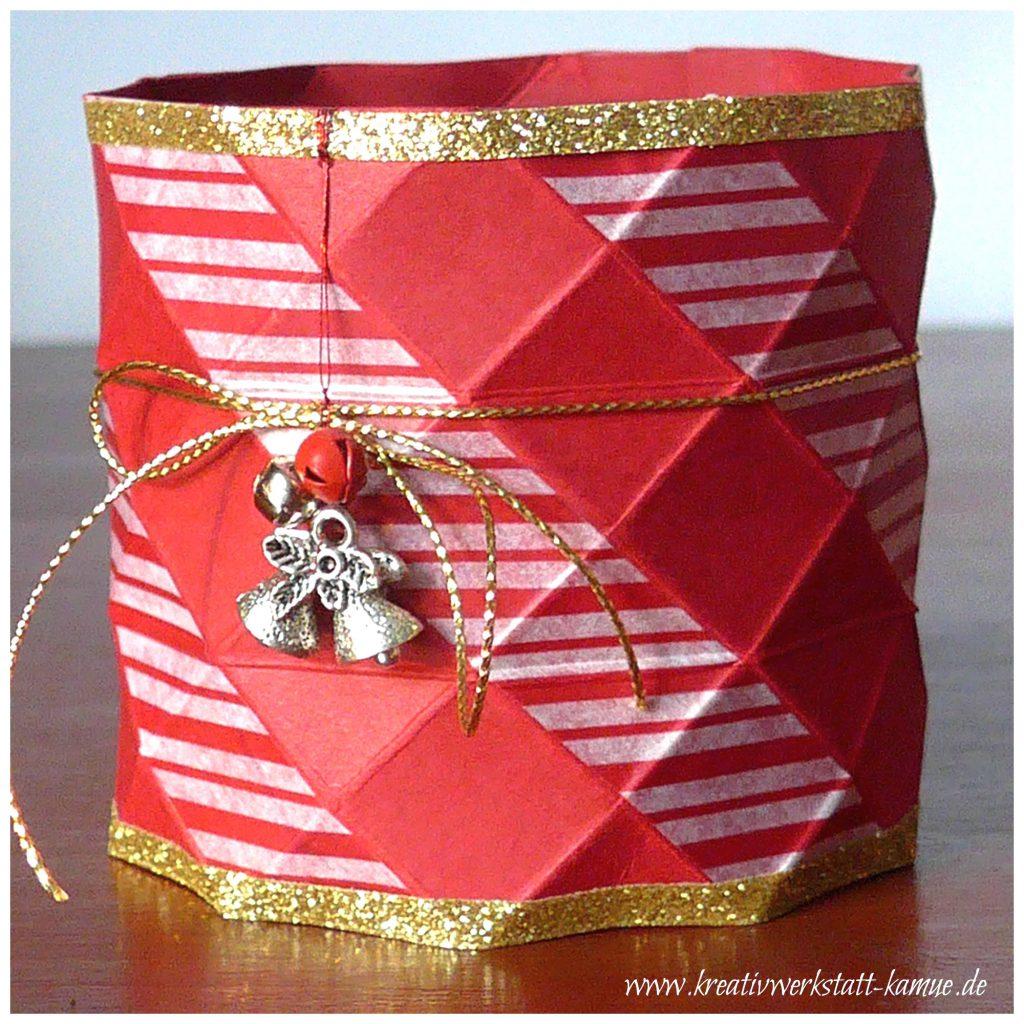 stampin up origami vase4